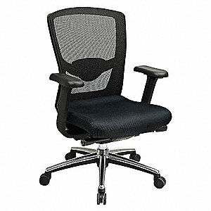 Office Star Black Mesh Desk Chair 21 Back Height Arm Style Adjustable 15z303511343at Grainger