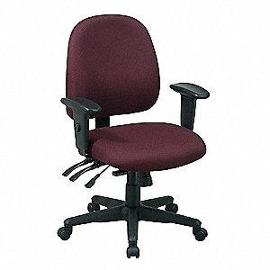 Pleasant Burgundy Fabric Desk Chair 19 Back Height Arm Style 2 Way Adjustable Machost Co Dining Chair Design Ideas Machostcouk