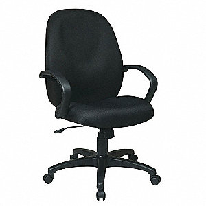 "Work Smart Black Fabric Executive Chair, 45"" Overall Height"