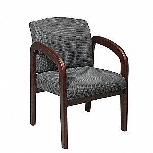 Work Smart Visitor Chair, Fabric, Charcoal