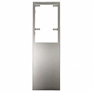 "17-7/16"" x 1"" x 56"" Stainless Steel Wall Retrofit Kit, Silver"