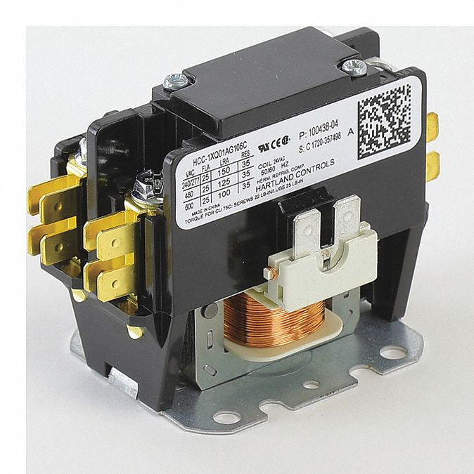 Contactor, 24V, 1 SPST, 25A,  Fits Brand Lennox,  For Use With Mfr. Model Number 100GHC36A-1