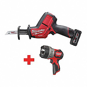 "12.0V Cordless Reciprocating Saw Kit, Battery Included, 5/8"" Length of Stroke, Straight Cut"