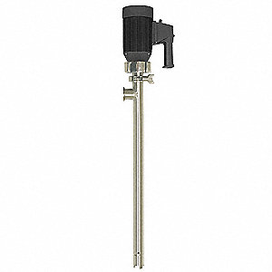 1 HP 316L Stainless Steel Electric Operated Drum Pump, 16 GPM, 10,000 RPM