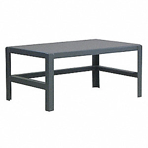 "Fixed Work Table,Steel,36"" W,18"" D"