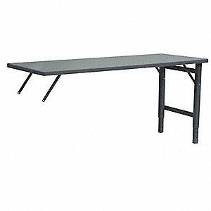 "Adjustable Height Work Table, Steel, 30"" Depth, 30"" to 38"" Height, 48"" Width,2000 lb. Load Capacity"