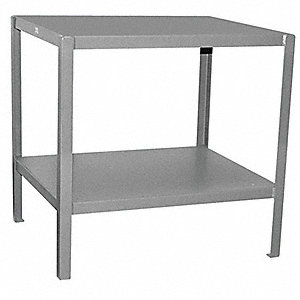 "Fixed Height Work Table, Steel, 30"" Depth, 30"" Height, 60"" Width,2000 lb. Load Capacity"