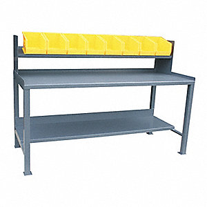 "Workbench, Steel, 30"" Depth, 35"" Height, 60"" Width, 3000 lb. Load Capacity"