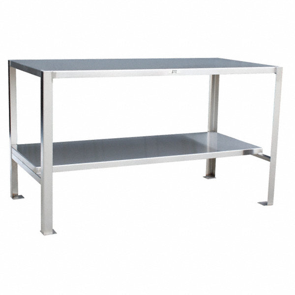 Jamco fixed height work table stainless steel 30 depth for Table th fixed width