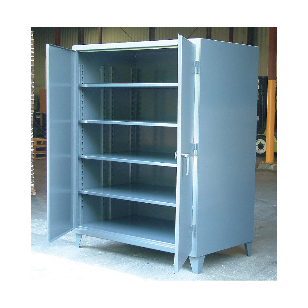 STRONG HOLD Heavy Duty Storage Cabinet, Dark Gray, 78\