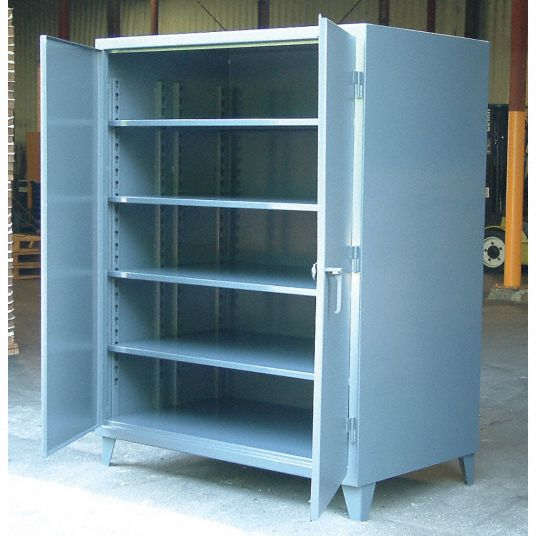 Strong Hold Heavy Duty Storage Cabinet Dark Gray 78 In H X 72 In W X 36 In D Assembled 16a403 66 364 Grainger
