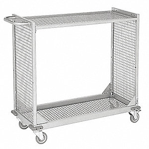"41""L x 18""W x 39""H Powder Coated Wire Cart, 400 lb. Load Capacity"