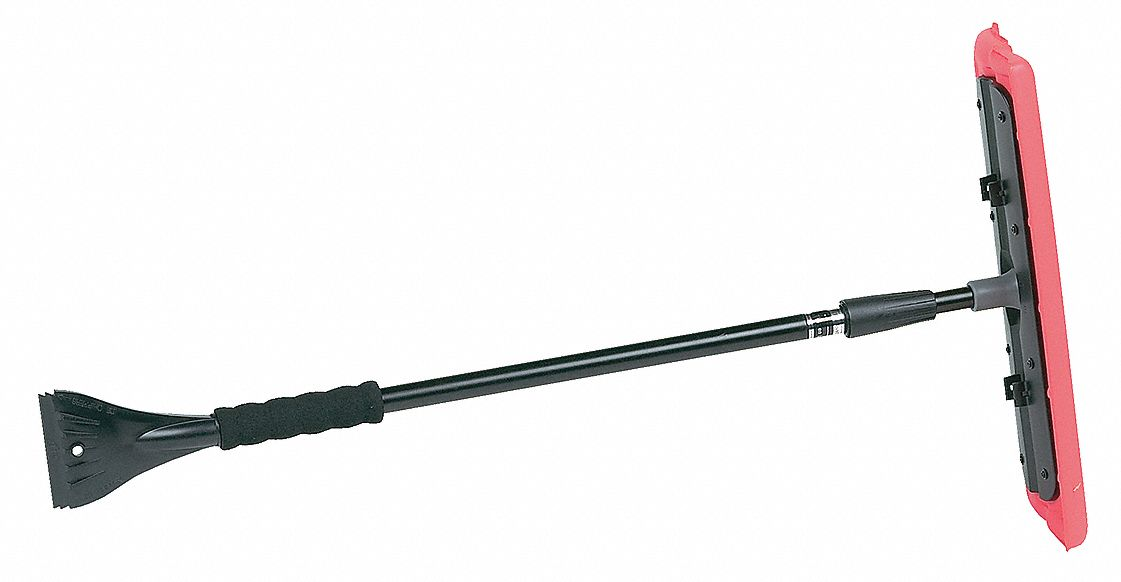 Extending Snow Brush with 51 in Telescopic Steel Handle, Black