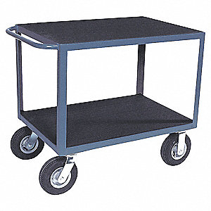 "34""H x 25""W x 66""D Instrument Cart, 1200 lb. Load Capacity, Number of Shelves: 2"