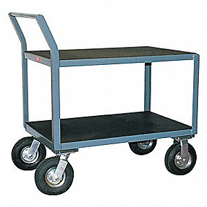 "43""H x 31""W x 54""D Instrument Cart, 1200 lb. Load Capacity, Number of Shelves: 2"