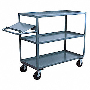 "63""L x 37""W x 48""H Steel Order Picking Stock Cart, 3000 lb. Load Capacity, Number of Shelves: 3"