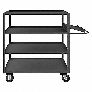 "63-1/4""L x 24-1/4""W x 60""H Steel Order Picking Stock Cart, 3000 lb. Load Capacity, Number of Shelves"