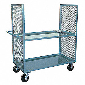 Stock Cart,3000 lb.,2 Shelf,36 in. L