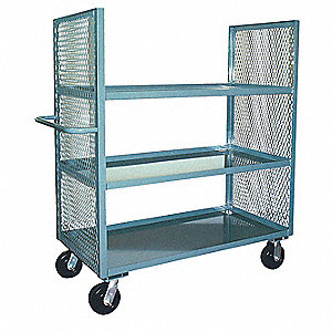 Stock Cart,3000 lb.,3 Shelf,72 in. L