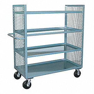 Stock Cart,3000 lb.,4 Shelf,60 in. L