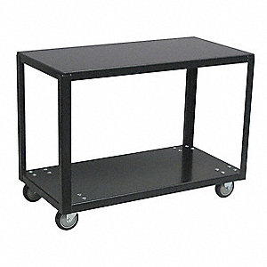"Fixed Height Work Table, 18"" Depth, 28"" Height, 24"" Width,800 lb. Load Capacity"