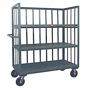 Stock Cart,3000 lb.,3 Shelf,48 in. L