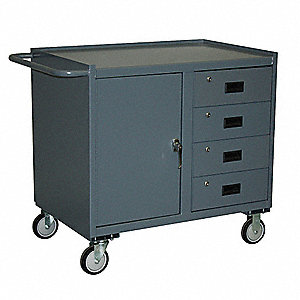 Mobile Workbench Cabinet,1400 lb.,21 In.