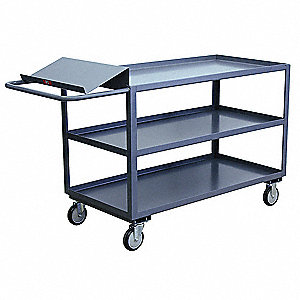 "63""L x 31""W x 39""H Steel Order Picking Stock Cart, 1400 lb. Load Capacity, Number of Shelves: 3"
