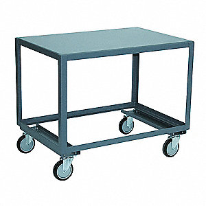 "Fixed Height Work Table, 24"" Depth, 30"" Height, 48"" Width,1400 lb. Load Capacity"