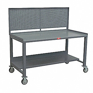 Mobile Work Center w/Pegboard,1200 lb.