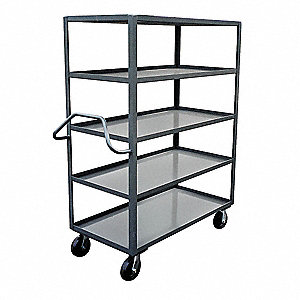 Stock Truck,3000 lb.,5 Shelf,48 in. L