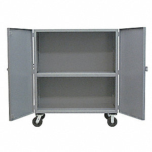 "54""L x 28""W x 57""H Gray Steel Solid Security Truck, 3000 lb. Load Capacity"