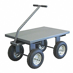 "Wagon Truck, 2000 lb. Load Capacity, Pneumatic Wheel Type, 12"" Wheel Diameter"