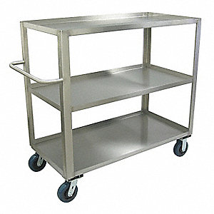Stock Truck,1800 lb.,3 Shelf,48 in. L