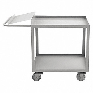 "45""L x 18-1/8""W x 39""H Stainless Steel Order Picking Stock Cart, 1200 lb. Load Capacity, Number of S"