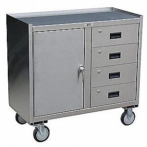 Mobile Workbench Cabinet,27 In. L