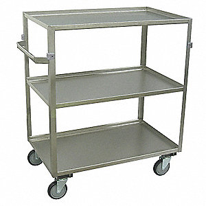 "52""L x 23""W x 42""H Stainless Welded Stainless Steel Supply Cart, 600 lb. Load Capacity, Number of Sh"