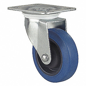 "4"" Plate Caster, 264 lb. Load Rating"