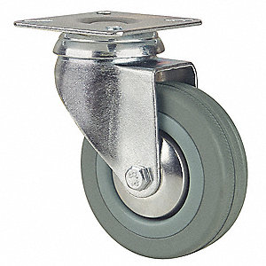"4"" Light-Duty Swivel Plate Caster, 176 lb. Load Rating"