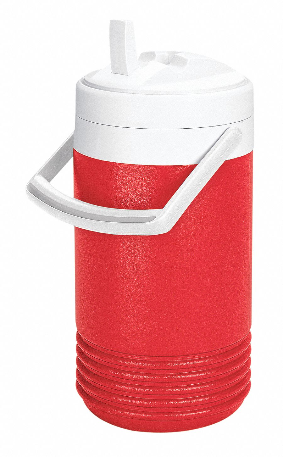 Plastic,  1.0 gal,  Beverage Jug,  Up to 2 days Ice Retention,  Red