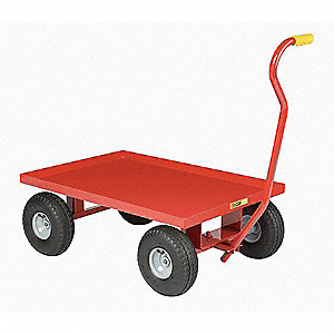 "Wagon Truck With 5th Wheel, 1200 lb. Load Capacity, Rubber Wheel Type, 10"" Wheel Diameter"