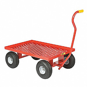 "Wagon Truck With 5th Wheel, 1200 lb. Load Capacity, Pneumatic Wheel Type, 10"" Wheel Diameter"