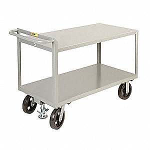 Flush Steel Utility Cart, 2400 lb. Load Capacity, Number of Shelves: 2