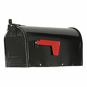 Steel Mailbox,Type 1,Black