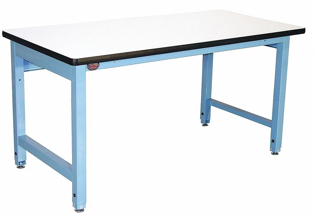 Bolted Workbench, ESD Laminate, 36 in Depth, 30 in to 36 in Height, 72 in Width, 5,000 lb Load Capac