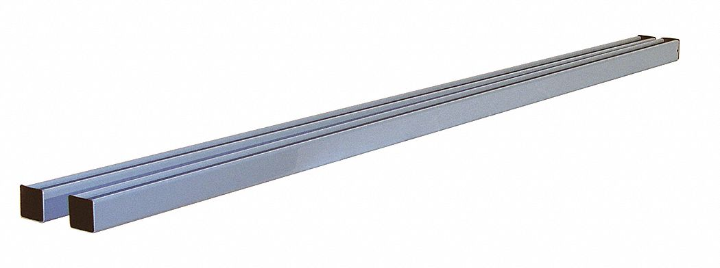 Upright Supports,  Steel,  5 in Height,  60 in Width,  1 5/8 in Depth,  1 PR
