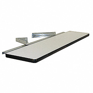 Cantilever Shelf,72 W x 12 D x 2 H,Gray