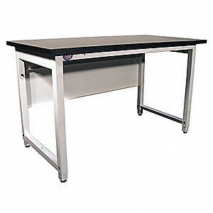 "Ergonomic Lab Workbench, 60"" Length, 30"" Width, Chem Guard®  Pull-Pin"