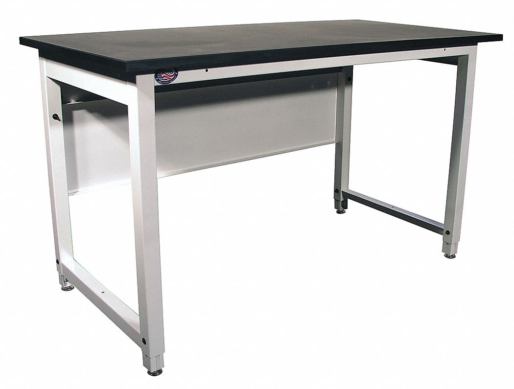 Bolted Workbench, Epoxy Resin, 30 in Depth, 34 in to 40 in Height, 60 in Width, 5,000 lb Load Capaci