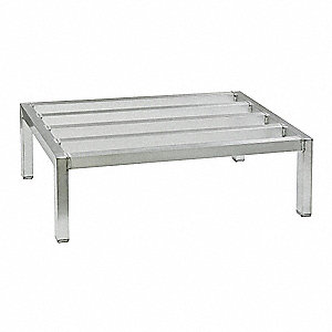 "36"" x 18"" x 12"" Aluminum Low Profile Dunnage Rack with 3000 lb. Load Capacity, Gray"